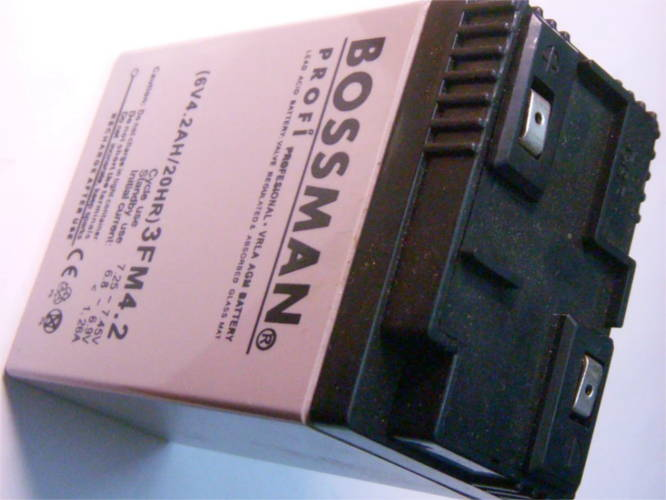 Аккумулятор 6V 4.2Ah Bossman