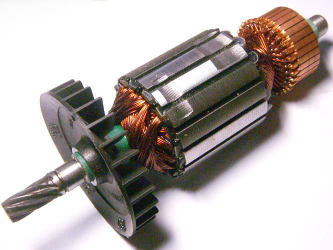 Якорь двигателя цепной электропилы Rebir KZ450