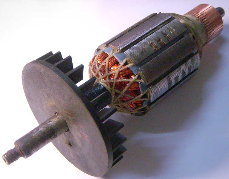 Ремонт якоря двигателя зернодробилки Зубренок