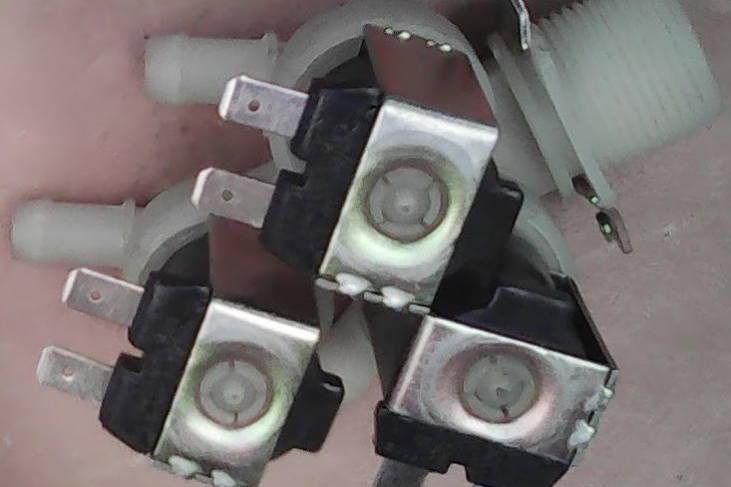 Тройной электроклапан стиральной машины на 180°