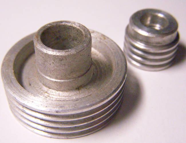 Комплект шкивов для электрорубанка Einhell под 4-х ручейный ремень