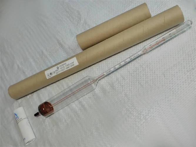 Лактометр АМТ 1015-1040 с термометром 34 см