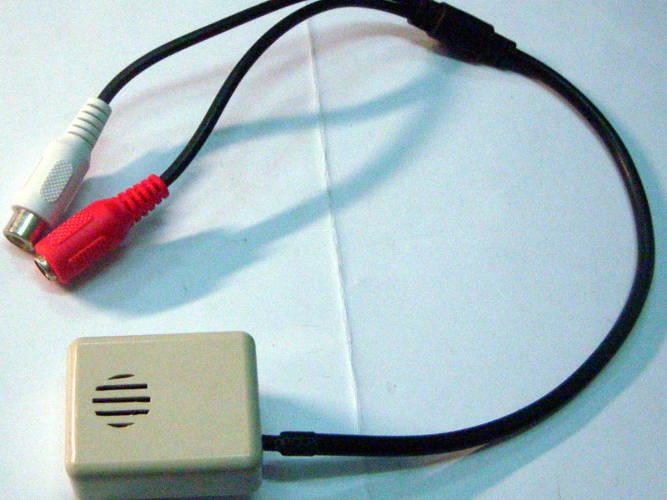 Миниатюрный микрофон с АРУ усилителем АМ-10М (АРУ) для видеонаблюдения