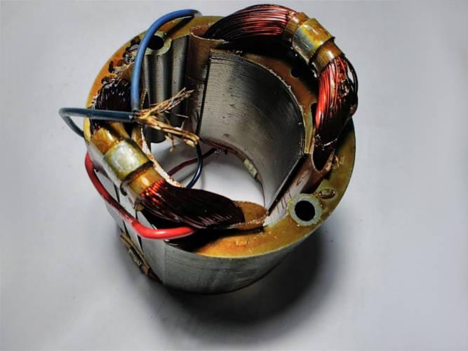 Ремонт статора 72*44-L50 для дисковой электропилы