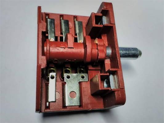 Четырехпозиционный переключатель Tibon 16A (нижний) на 3+3 контакта