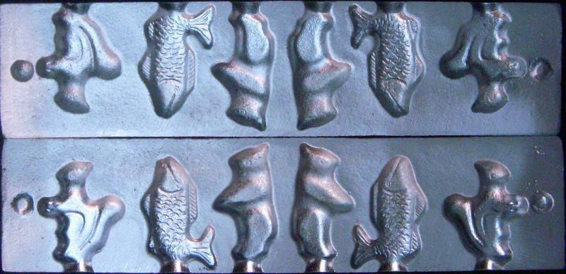 Форма для изготовления конфет Белочка Рыбка Зайчик