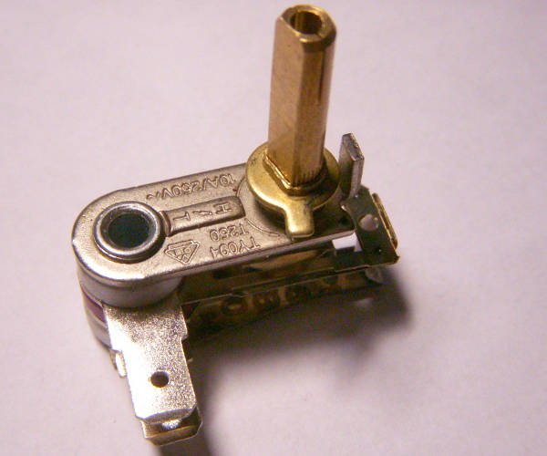Биметаллический терморегулятор TY094 на 10А шток 20 мм
