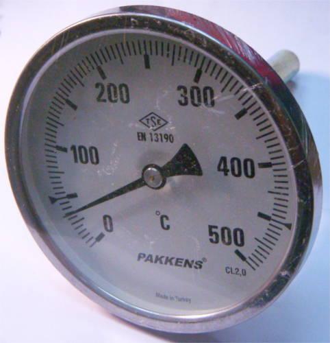 Термометр ∅100 мм для пицца печей до 500°C на сухом штоке