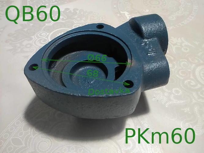 Чугунная улитка вихревого насоса Werk, Victoria, Rona QB-60/ PKm60