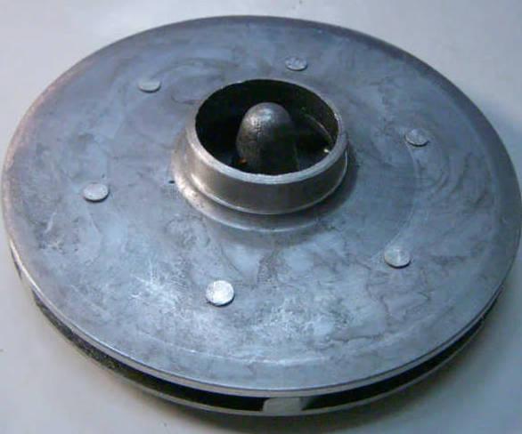 Алюминиевое рабочее колесо поверхностного насоса БЦН 1,6—20 У1,1 (ХЭЛЗ)