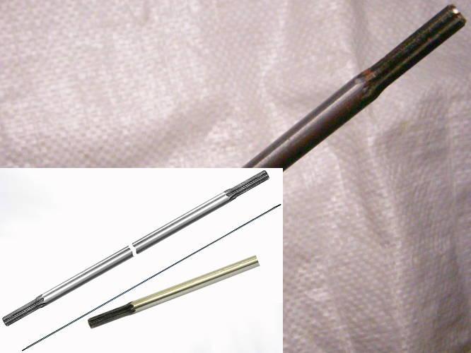 Жесткий прямой стальной вал 153 см бензокосы под 7 шлицов