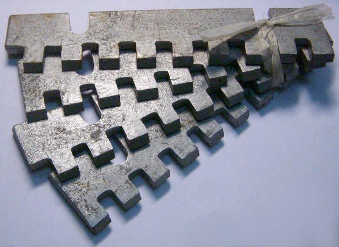 Некаленые ножи корморезки размером 138-72-30 мм