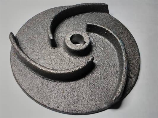 Чугунная крыльчатка d12*105-h14 для фекального насоса