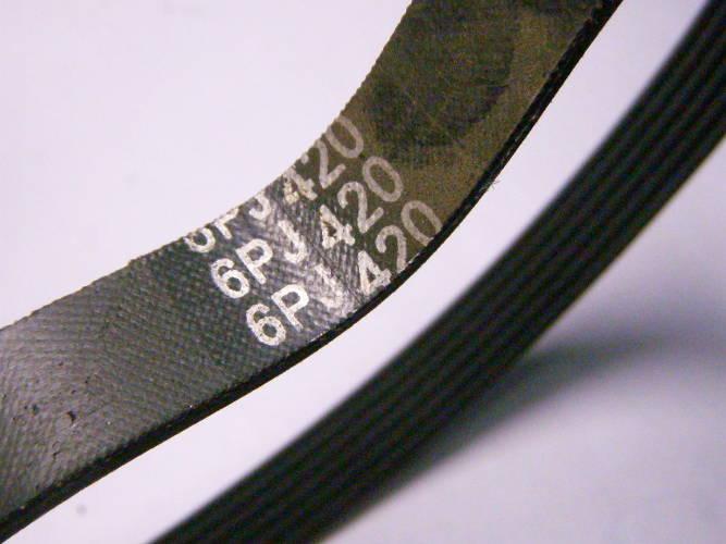 Шести ручейный ремень 6PJ420 на кордовой основе на электростанок, компрессор