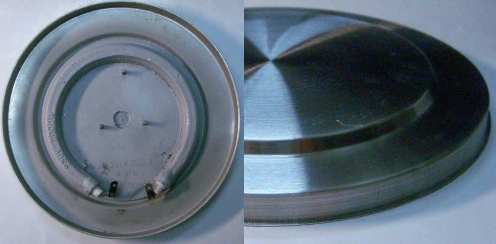 Дисковый тэн электрочайника диаметром 157 мм, на три резьбовых шпильки