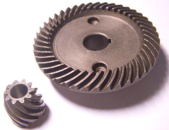 Зубчатая пара шестерней редуктора болгарки Темп МШУ 230-2500