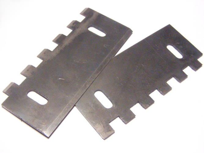 Комплект каленых ножей 120-73 на корморезку Зубренок