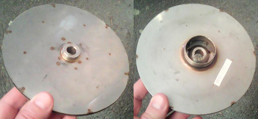 Колесо 155*12*33 мм из нержавеющей стали для насоса hp-Technik CPM-158