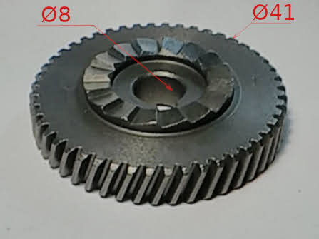 Шестерня d41*8-h9 к ударной электродрели 8 мм на шпонку