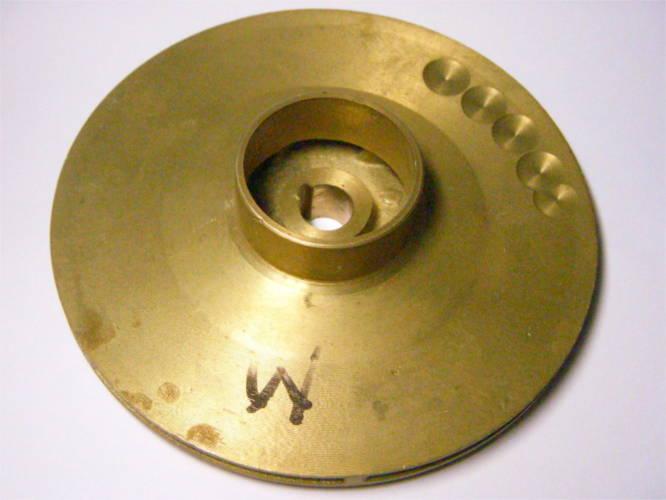 Рабочее колесо 125*40*12 цветной металл для цетробежного насоса