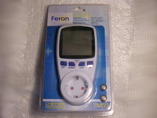 Цифровой таймер программатор нагрузки Feron TM55 с LCD дисплеем