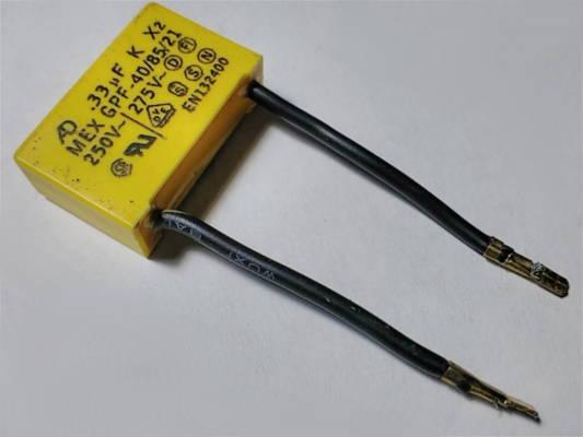 Конденсатор 0.33 мкФ 26.5*17 для перфоратора
