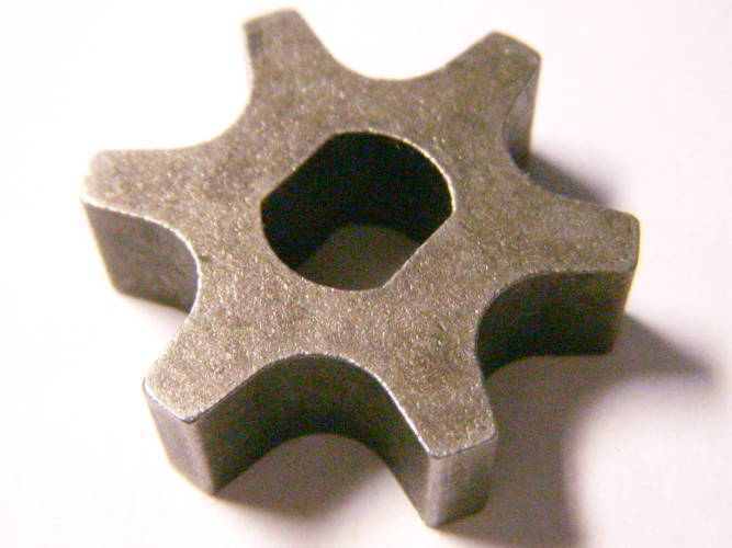 Шестизубая звезда для цепной электропилы Тайга, Forte, Титан, Foresta, EXPERT Garden А YT4795