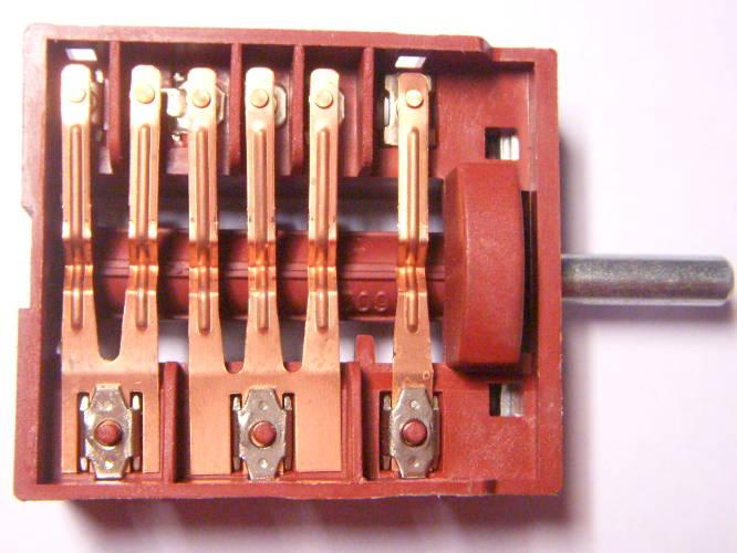 7 позиционный переключатель электродуховки Zanussi на 6 контактов