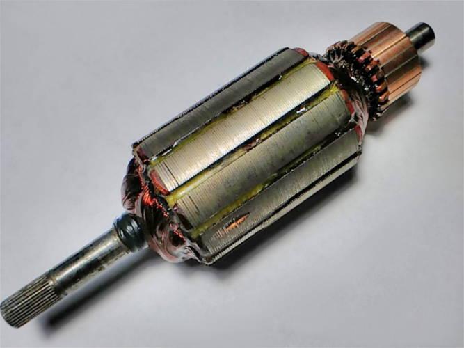 Ремонт якоря d38-L139-94 электротриммера
