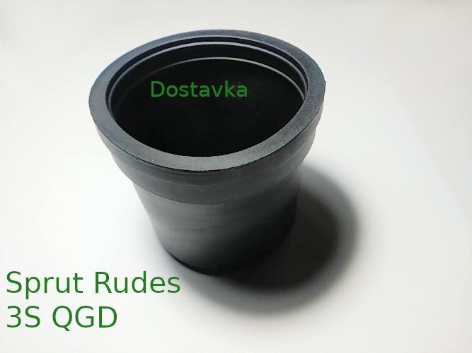 Мембрана обратного клапана d71 h61 погружного насоса Sprut Rudes 3S QGD резина (B04)