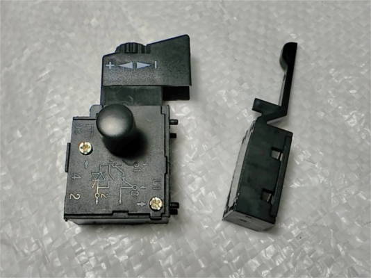Кнопка 6 Ампер для электродрели Гранд, Stern, Topex, Беларусмаш