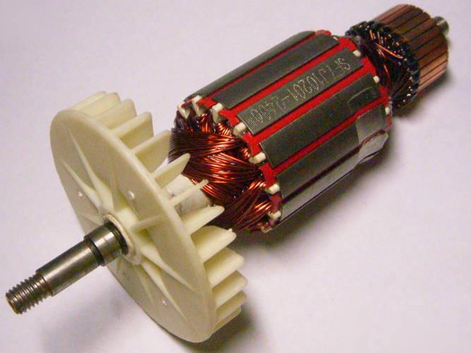 Якорь 406-й цепной электропилы Кедр ПЦ-2800 с валом 8 мм