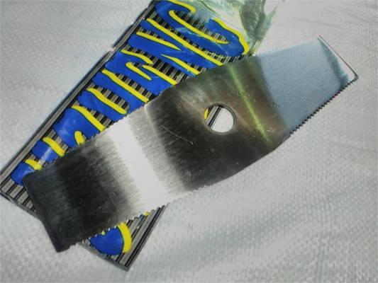 Двухлепестковый нож 305x1.6x25.4x2T для бензокосы