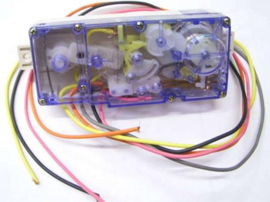Двойной таймер стиральной машины полуавтомат на пять проводов