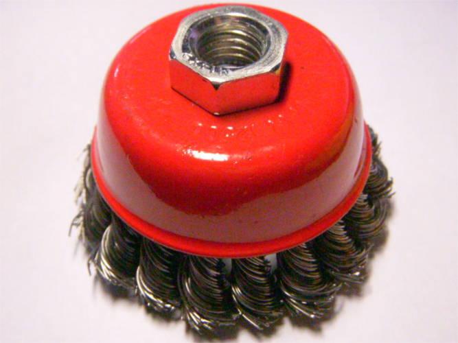 Металлическая щетка d75*0.5*М14 для очистки, шлифовки металла