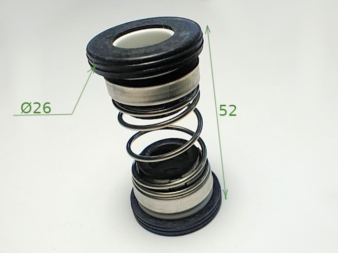 Торцевое двойное уплотнение 208-12 с кольцами 26 мм