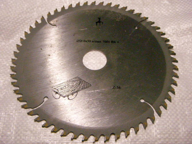 Пильный диск 210*30 с 56 победитовыми зубами для циркулярной электропилы