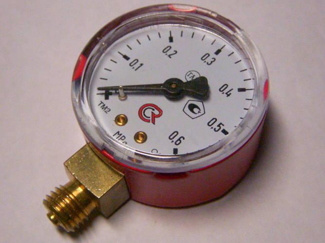 Газовый манометр 50 мм до 0.6 МПа