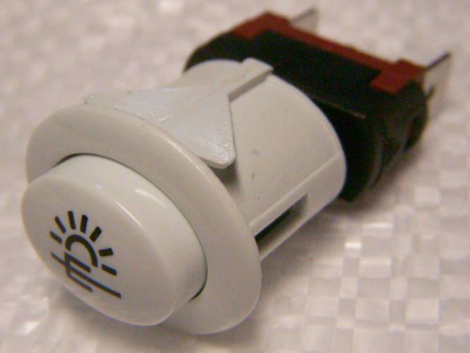 Овальная кнопка с фиксатором для подсветки электроплиты