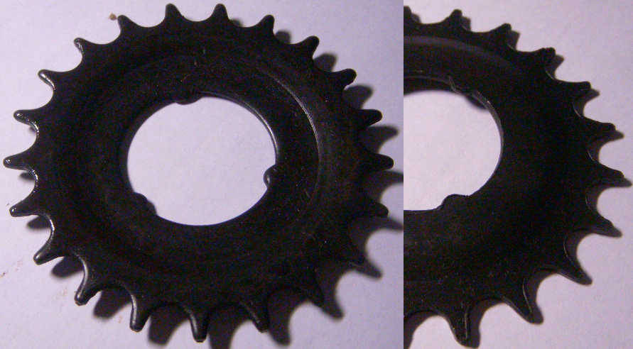 Звезда велосипедная на 21 зуб из каленой стали