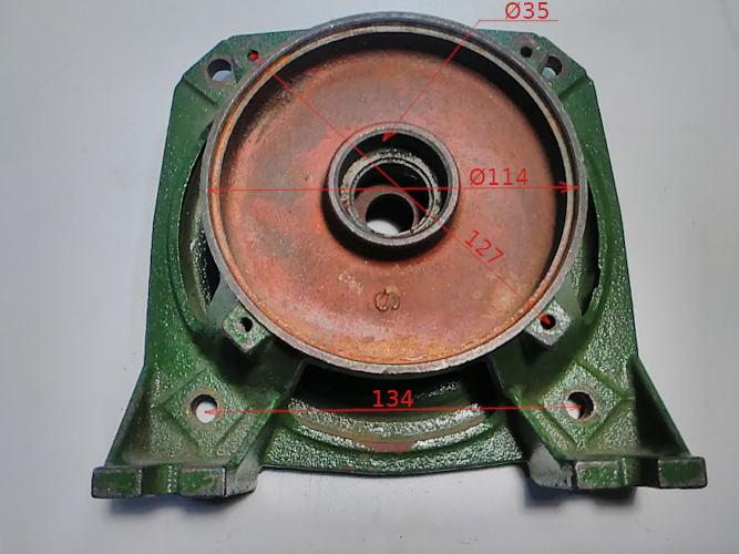 Центральная чугунная опора насоса под кольцо 28 мм