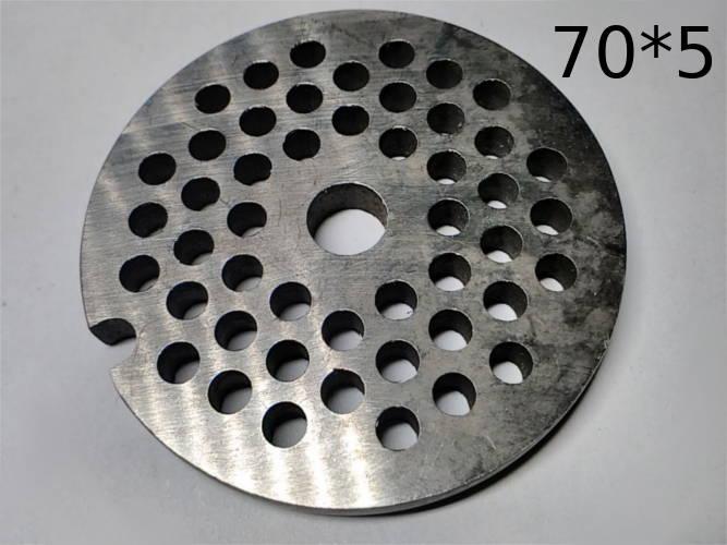 Сетка d70*5-h7 выхода шнека полупромышленной электромясорубки