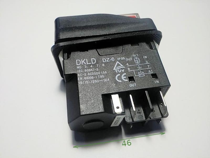 Силовая кнопка DKLD DZ-6 15A 5 клемм вкл/выкл для электрооборудования