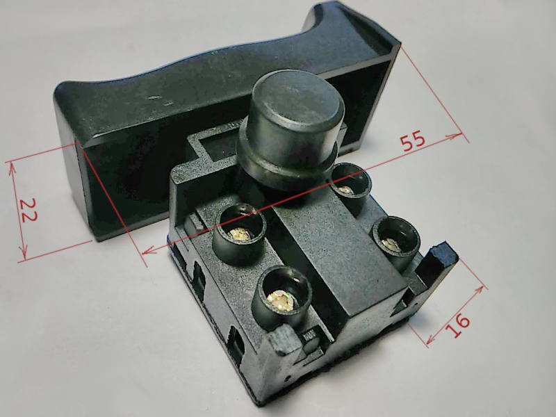 Кнопка 10A для болгарки Craft-Tec PXAG254 125/1000