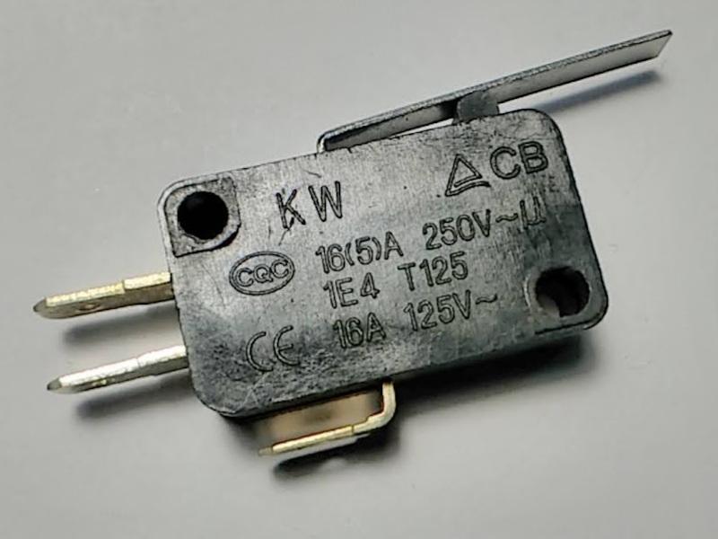 Кнопка KW CB 16А с длинным рычагом