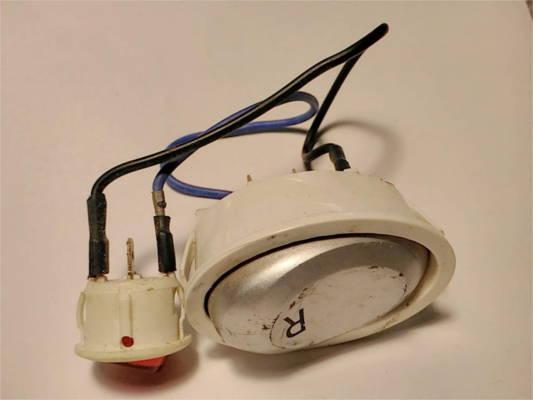Узел управления 50-20 мм электромясорубки на 6+3 контактов