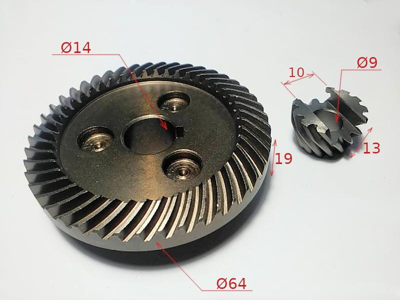 Шестерни редуктора болгарки CRAFT-TEC PRO 180-2100