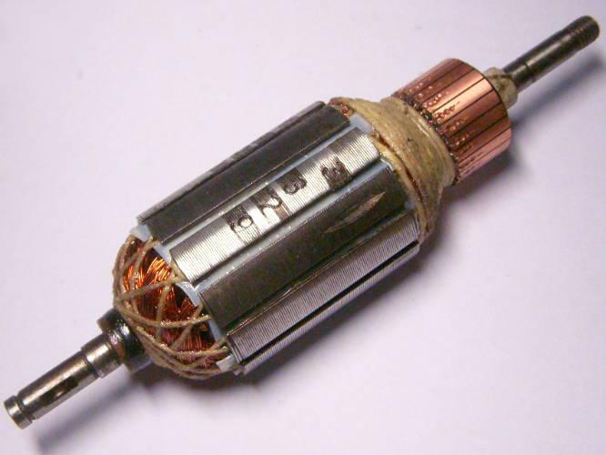 Перемотка якоря электрокосы Бригадир 1200