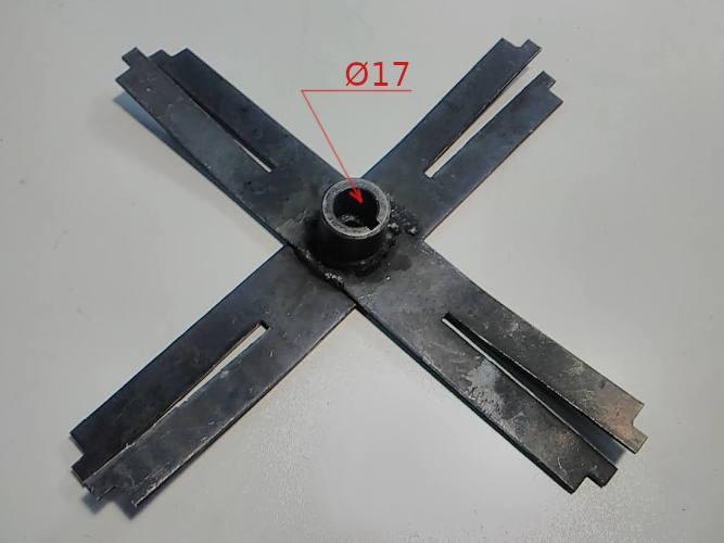 Сваренный крестообразный молоток зернодробилки