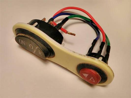 Узел управления электромясорубкой на 6+3 контактов